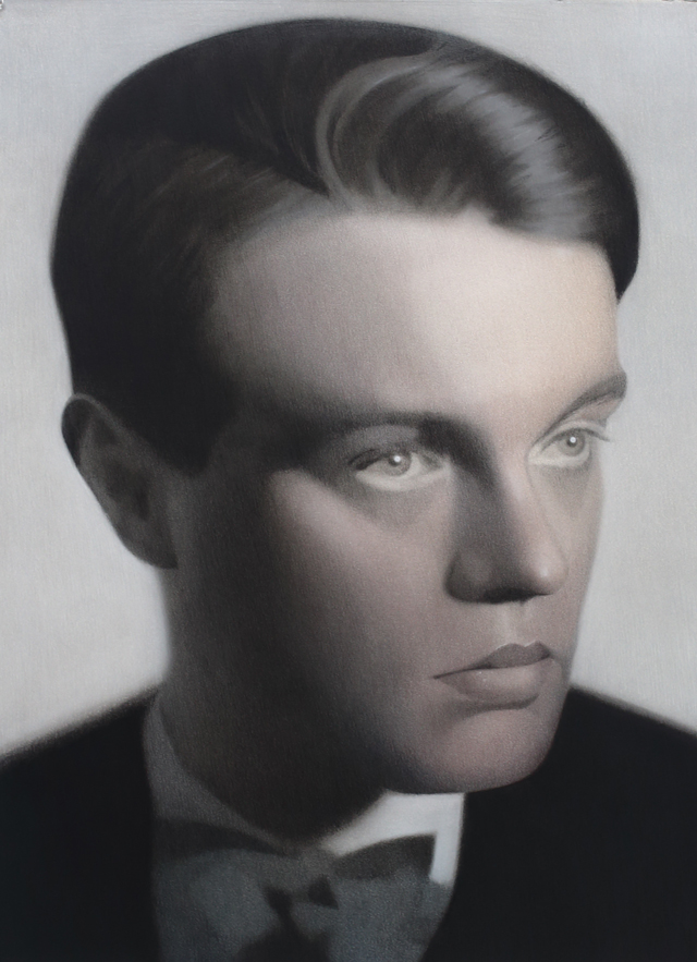 SIMON KENNEDY  From Henri Martinie photograph   of René Crevel 1925  2015 charcoal, pastel and ink on paper 76 × 56 cm
