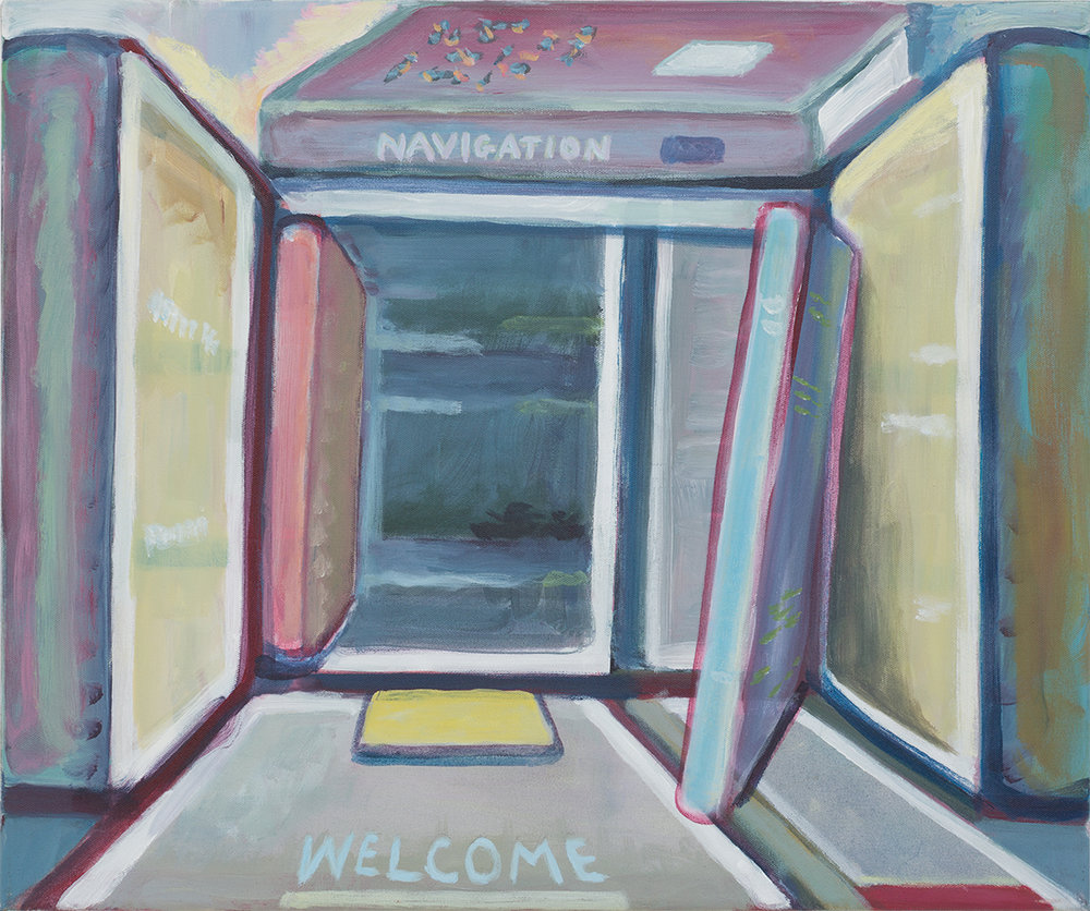 SIMON BLAU Navigation 2015 acrylic on canvas 51 × 61 cm
