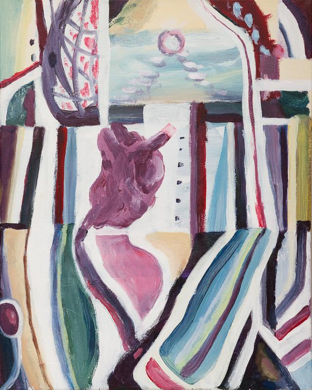 SIMON BLAU Internal 2013 acrylic on canvas in frame 53 × 43 cm