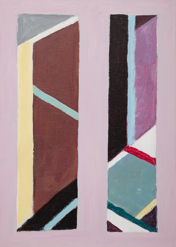 SIMON BLAU  Pink Wall  2014 acrylic on board 42 × 29.5 cm
