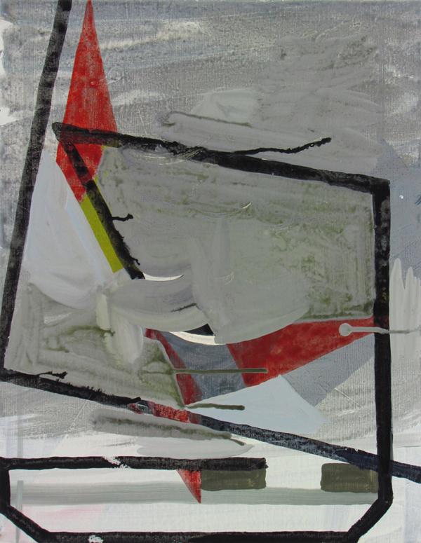JULIAN HOOPER  Apparent Wind  2016 acrylic on linen 46 ×35 cm
