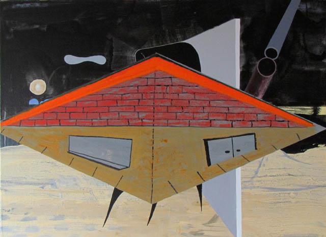 JULIAN HOOPER Come back later 2013 acrylic on linen 56 × 76 cm