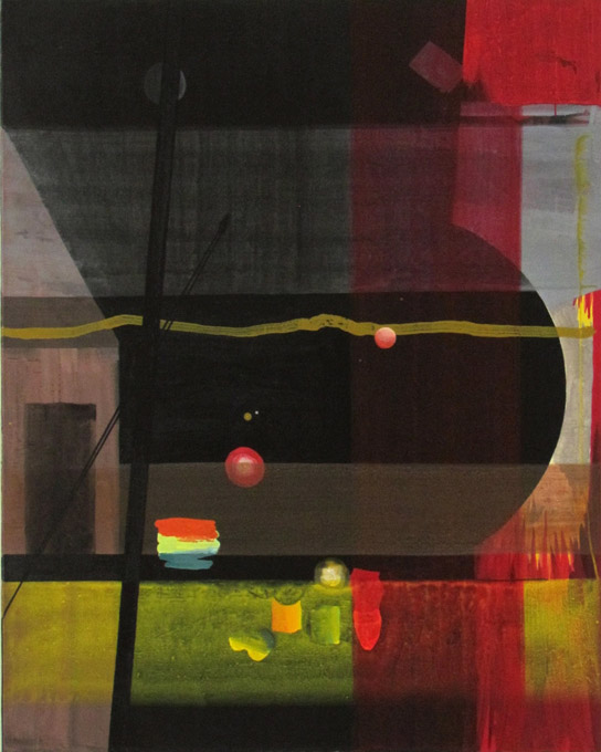 JULIAN HOOPER  Eclipse  2013 acrylic on linen 150 × 120 cm