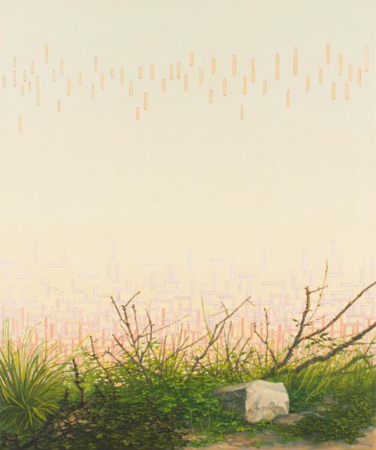 VIV MILLER  Air painting  2011 oil, enamel, acrylic and pencil on canvas 30 × 25 cm