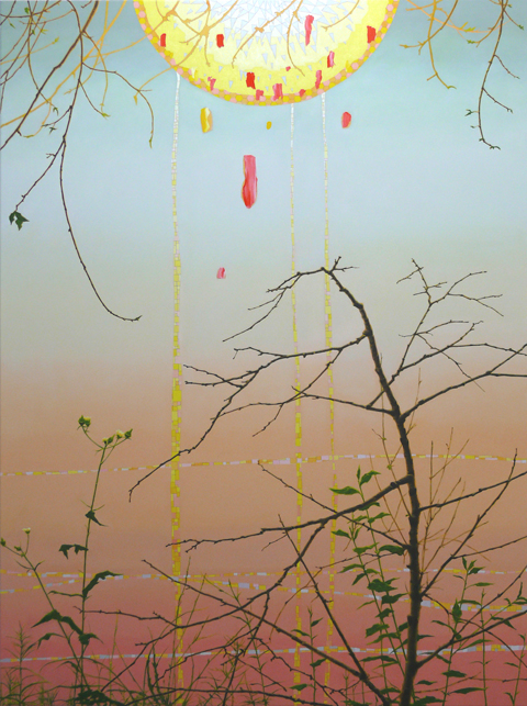 VIV MILLER And Again 2012 oil, enamel and pencil on canvas 170 × 130 cm