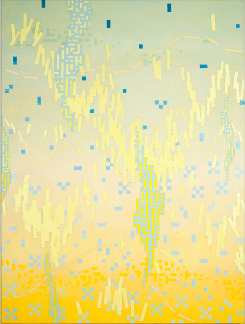 VIV MILLER Solid Air 2013 oil, enamel, acrylic and pencil on linen 80 × 60 cm