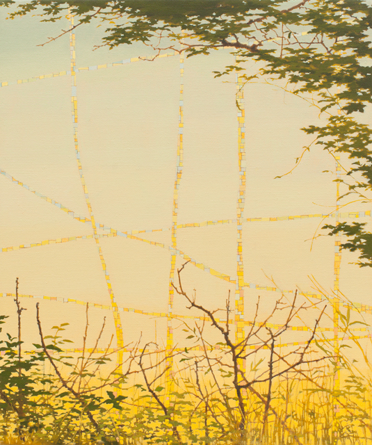 VIV MILLER Untitled 2013 oil, enamel, acrylic and pencil on canvas 30 × 25 cm