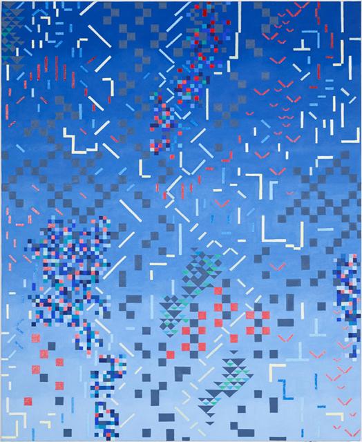 VIV MILLER  Variations 1  2013 oil and enamel on linen 56 × 46 cm