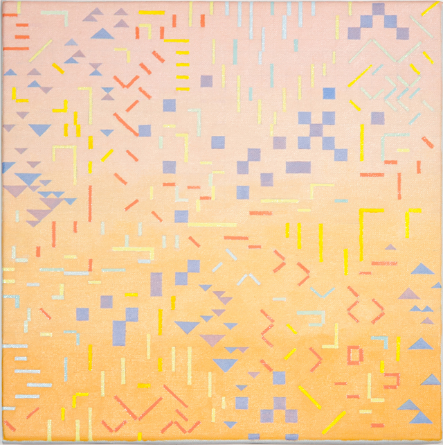 VIV MILLER Variations 2 2013 oil and enamel on linen 25 × 25 cm