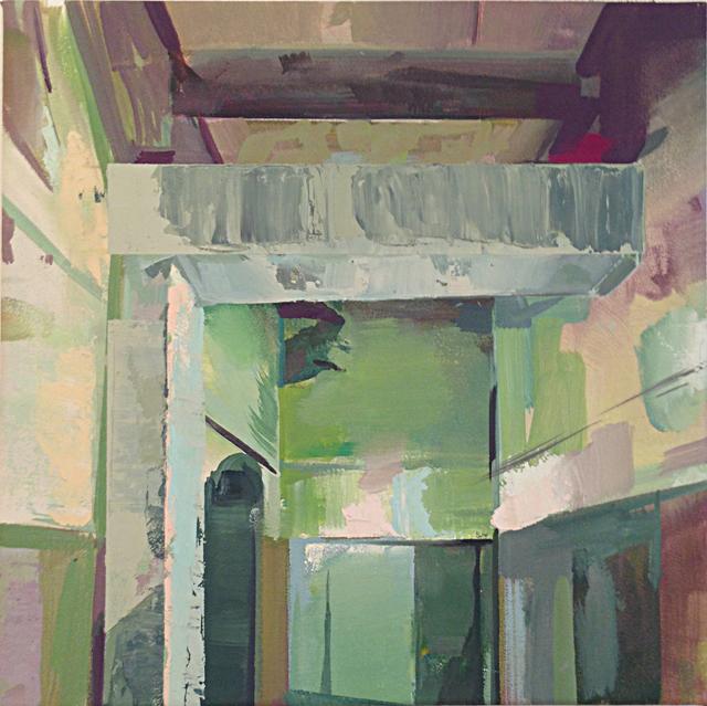 DAVID RALPH  Conduit  2014 oil on canvas 40 × 40 cm