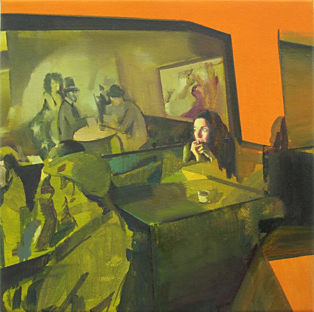 DAVID RALPH Reverie 2014 oil on canvas 40 × 40 cm