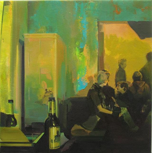 DAVID RALPH  The Schreibmaschine Cafe 1  2013 oil on canvas 40 × 40 cm