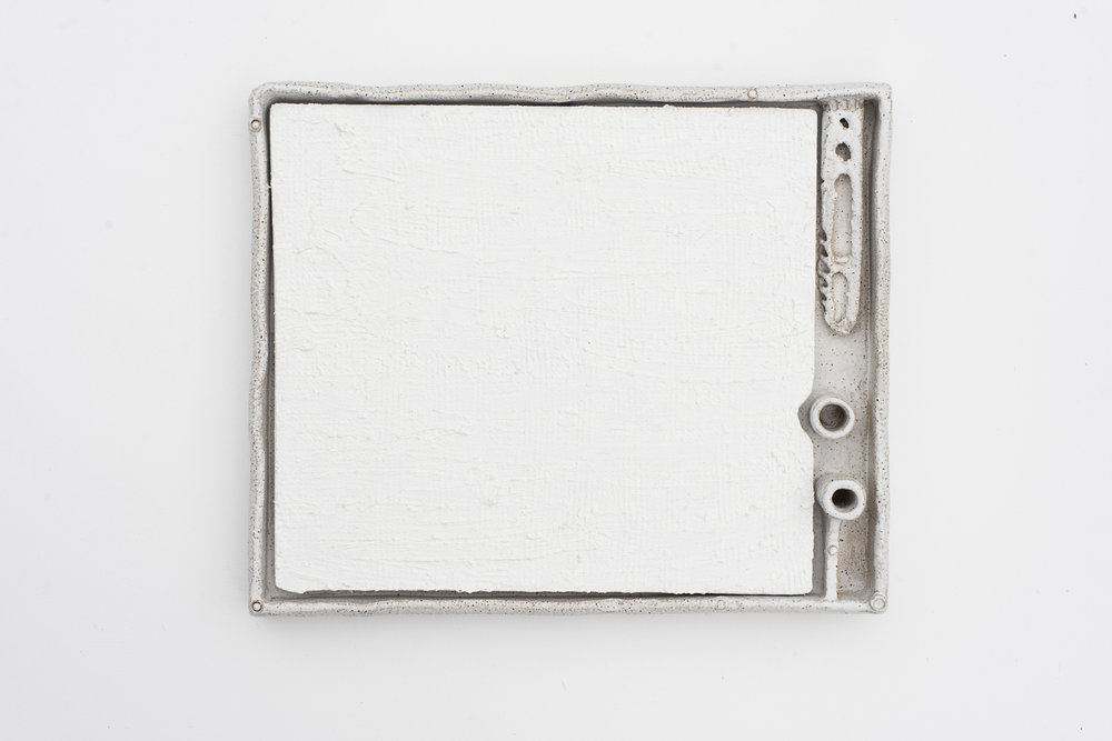 JAKE WALKER #0019 2015–17 oil on board, glazed stoneware frame 30 × 35 cm