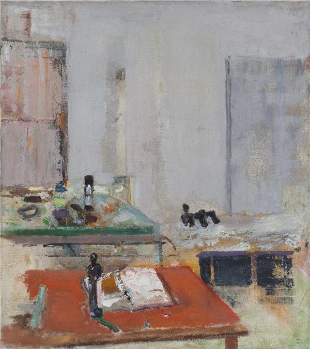 JELLE VAN DEN BERG  Book  2012 oil on canvas 39 × 35 cm