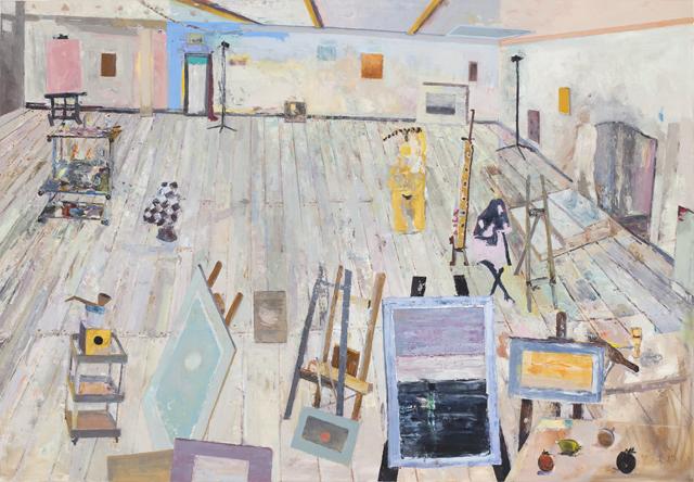 JELLE VAN DEN BERG  Go Juan (Go1)  2010 oil on canvas 180 × 260 cm
