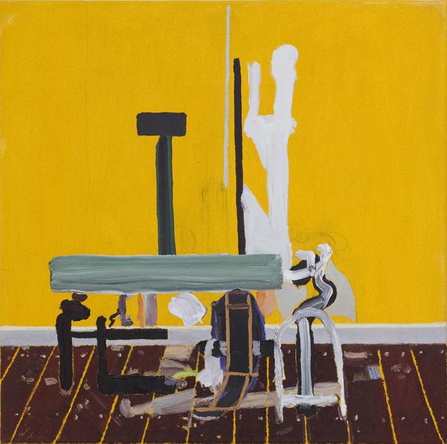 JELLE VAN DEN BERG  Prepsite  2006 oil on canvas 50.5 × 50.5 cm