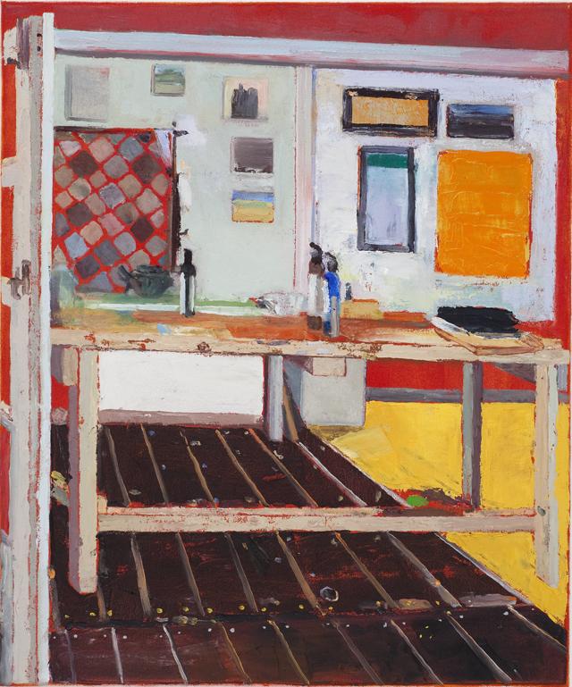 JELLE VAN DEN BERG  Room  2009 oil on canvas 60 × 50 cm