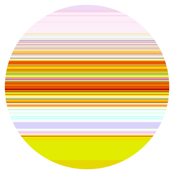 PAUL SNELL  Intersect # 201515 2015 Lambda Print, face-mounted to 6mm plexiglas 118 cm diameter