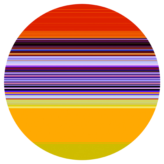 PAUL SNELL  Intersect # 201503 2015 Medium Lambda Print, face-mounted to 6mm plexiglas 118 cm diameter