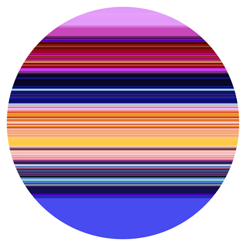 PAUL SNELL Intersect # 201504 2015 Lambda Print facemounted to 6mm acrylic edition of 1 + 2 AP 118 cm diameter