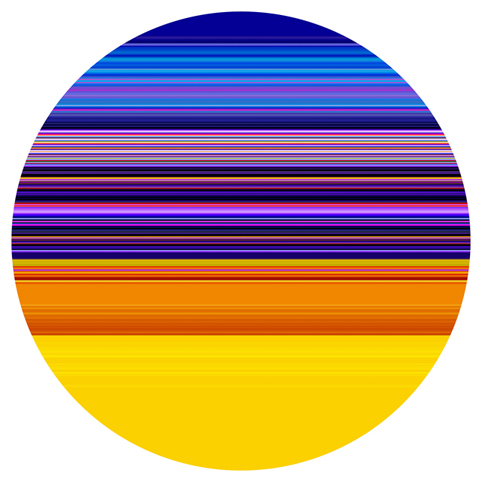 PAUL SNELL Intersect # 201512 2015 Lambda Print facemounted to 6mm acrylic edition of 1 + 2 AP 118 cm diameter