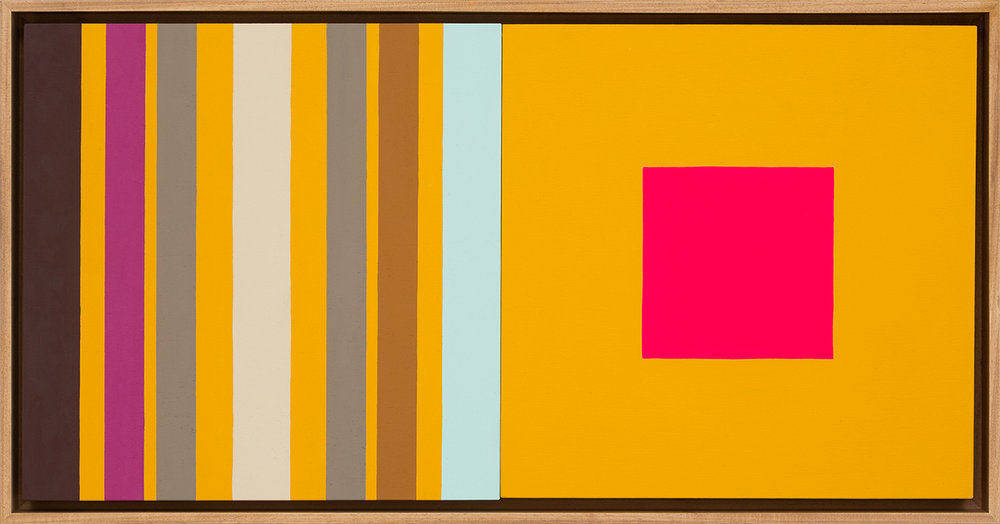 LOUISE TUCKWELL  Change and Sameness  2015 acrylic on board 30 x 60 cm
