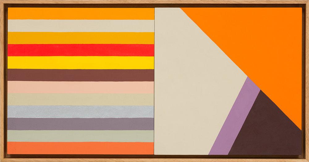 LOUISE TUCKWELL  Change and Sameness II  2015 acrylic on board 30 x 60 cm