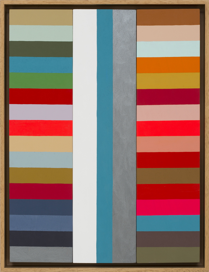 LOUISE TUCKWELL  Compound Rhythms  2015 acrylic on board 40 x 30 cm