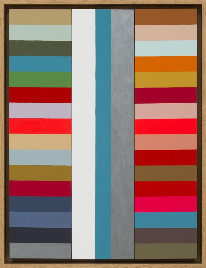 LOUISE TUCKWELL  Compound Rhythms  2015 acrylic on board 40 x 30 cm
