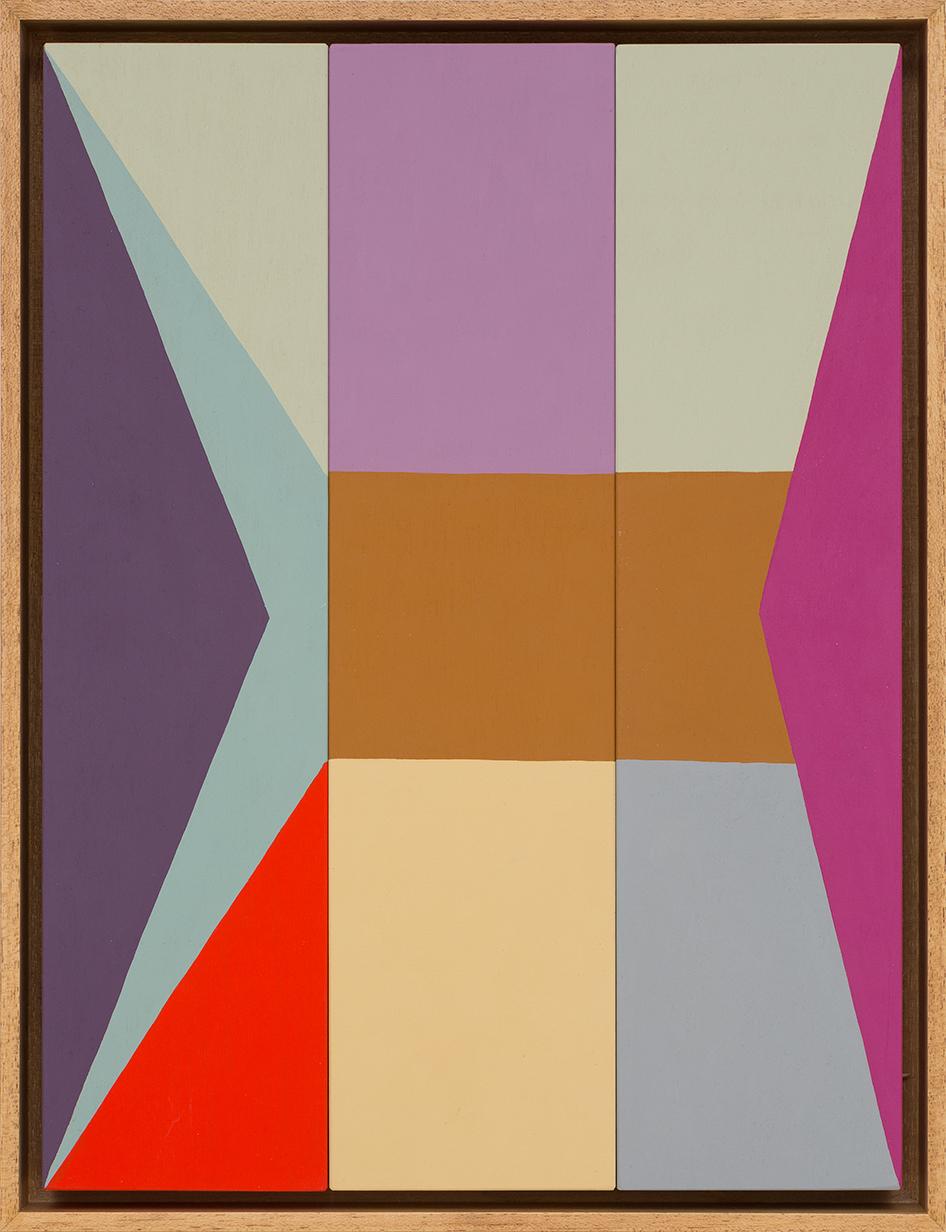 LOUISE TUCKWELL  Folding in  2015 acrylic on board 40 x 30 cm