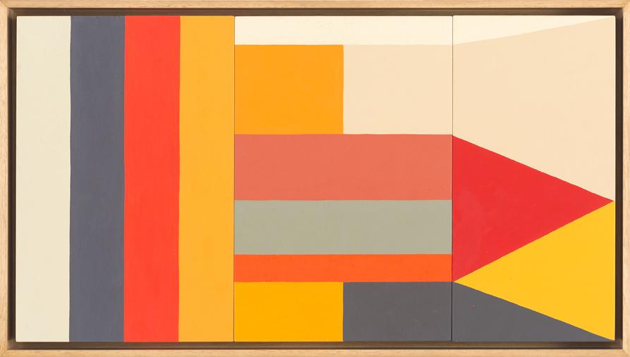 LOUISE TUCKWELL  Sun goes down on everyone  2015 acrylic on board 30 x 55 cm