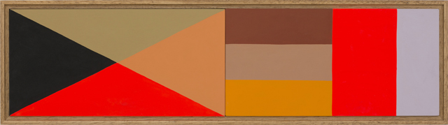 LOUISE TUCKWELL  18 spies  2014 acrylic on board 15 ×60 cm