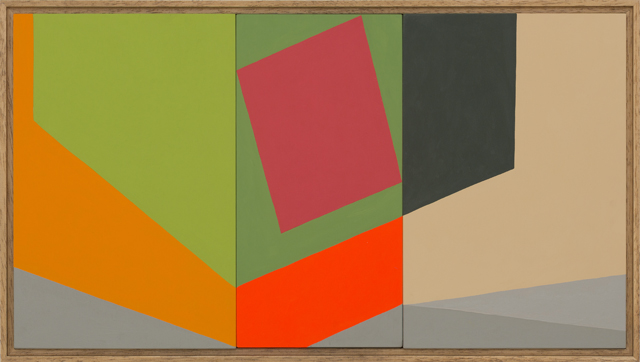 LOUISE TUCKWELL  Tear of an oblong  2014 acrylic on board 30 × 65 cm