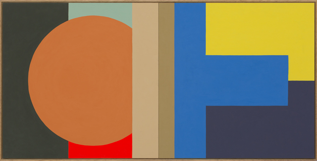 LOUISE TUCKWELL  The gap between you and everything  2014 acrylic on board 60 × 120 cm