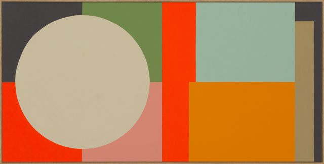 LOUISE TUCKWELL  We play between evening and day  2014 acrylic on board 60 × 120 cm