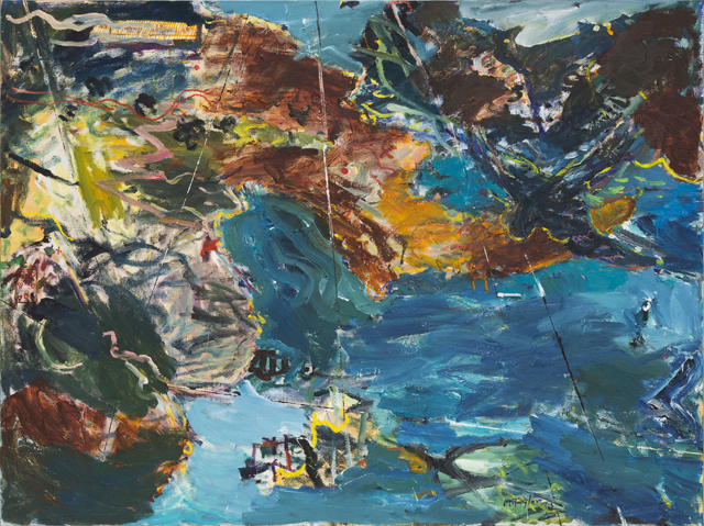MICHAEL TAYLOR  Birds eye view  2013 oil and oil stick on linen 137 × 182 cm