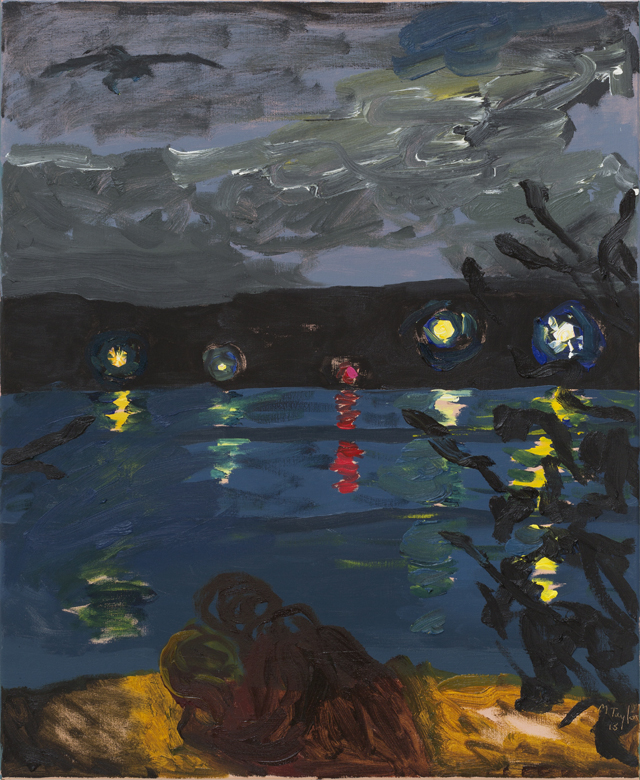 MICHAEL TAYLOR  Night People  2013 oil and oil stick on linen 87 × 71 cm