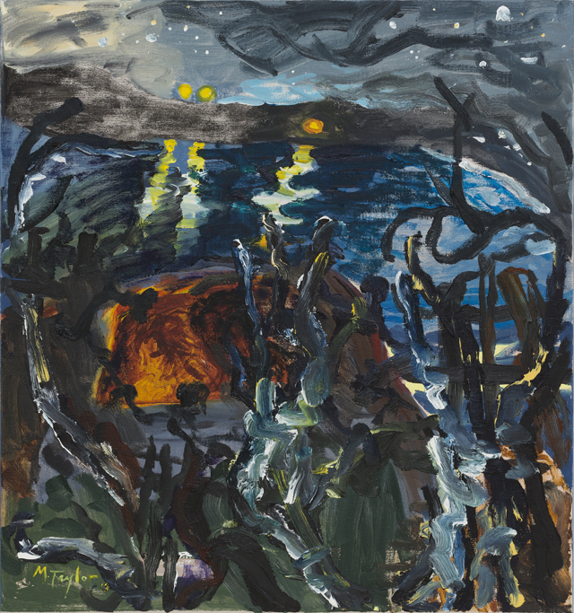 MICHAEL TAYLOR  River Picture  2013 oil and oil stick on linen 87 ×71 cm