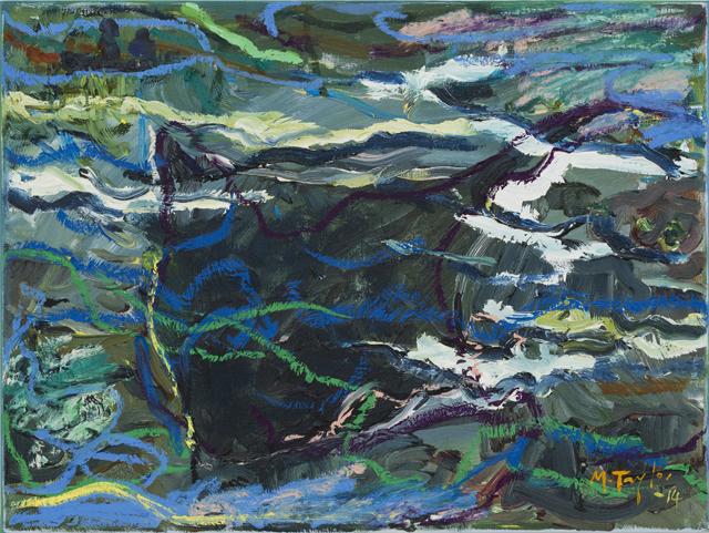 MICHAEL TAYLOR  Sea creature  2014 oil and oil stick on linen 43 × 59 cm
