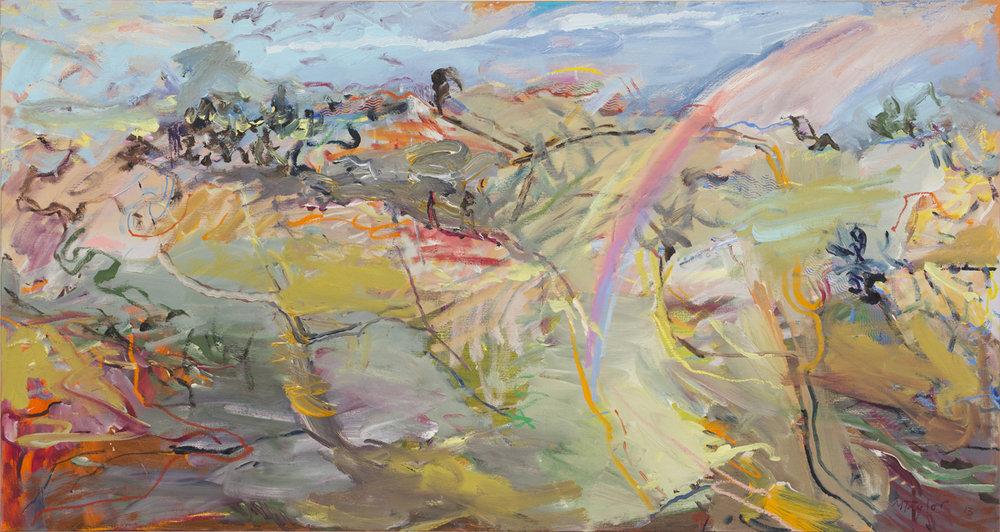 MICHAEL TAYLOR  Sundog Nimmitabel  2013 oil and oil stick on linen 90 ×169 cm