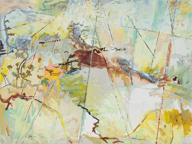 MICHAEL TAYLOR  The ridge  2014 oil and oil stick on linen 120 × 160 cm