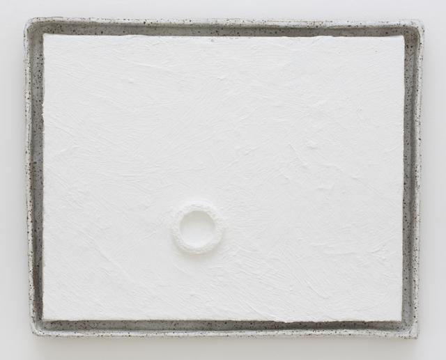 JAKE WALKER  Athfield framed painting 1  2013 oil/alkyd on linen in glazed stoneware artist's frame 41 × 35 cm