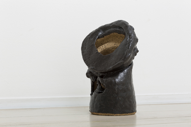 JAKE WALKER  Dropped ceramic  2013 glazed stoneware 23 × 15 × 11 cm