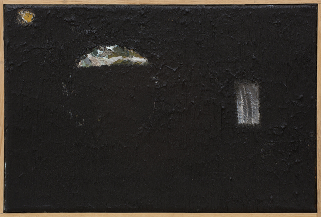 JAKE WALKER  Untitled painting 4  2010-11 oil on canvas in artist's frame 21 × 26 cm
