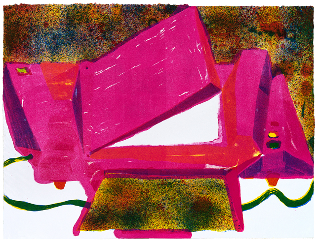 ANDRZEJ ZIELINSKI  Scanner  2012 four-colour lithograph on Magnani paper edition 3 39.5 × 53.5 cm