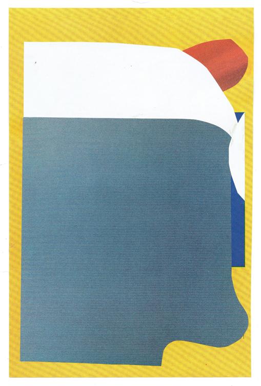 ED BATS  Lake Hayes 2  2016 paper collage 23 ×31 cm (framed)