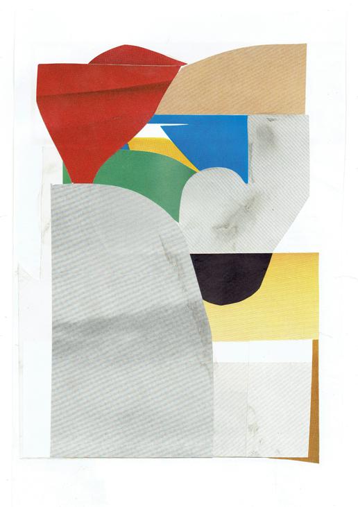 ED BATS  Lake Hayes 5  2016 paper collage 23 × 31 cm (framed)