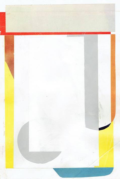 ED BATS  Lake Hayes 4  2016 paper collage 23 × 31 cm (framed)