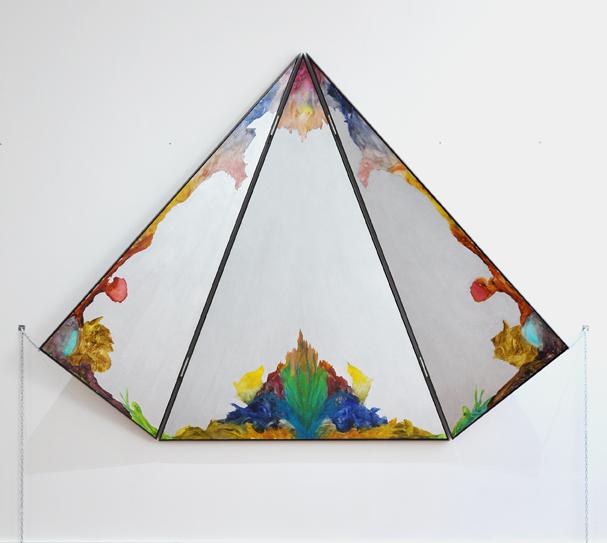 BELEM LETT  Aviary  (open)2016 oil, luminescent pigment on aluminium composite panel  204 × 266 cm