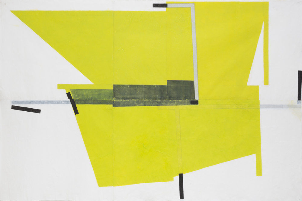 LYNNE EASTAWAY  Out of the Fold #1  2016 acrylic gouache on kozo Paper 151 × 227 cm
